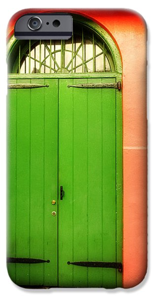 Chrystal iPhone Cases - Arched Door in New Orleans iPhone Case by Chrystal Mimbs