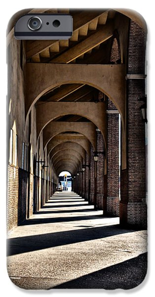 Franklin iPhone Cases - Arched Walkway at Franklin Field iPhone Case by Bill Cannon