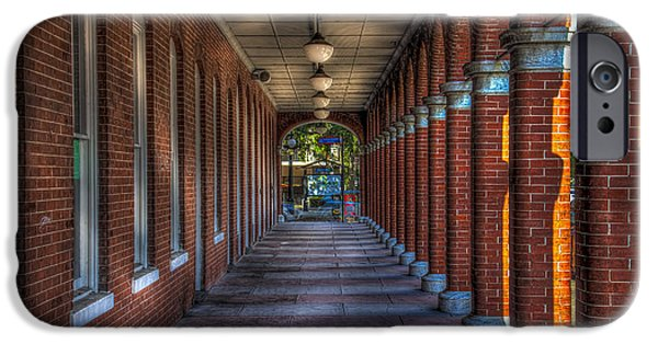 Corridor iPhone Cases - Arches and Columns iPhone Case by Marvin Spates