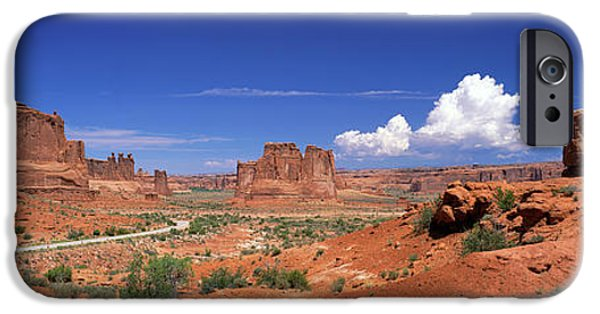 Red Rock iPhone Cases - Arches National Park, Moab, Utah, Usa iPhone Case by Panoramic Images