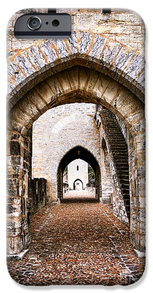 Arches of Valentre bridge in Cahors France iPhone Case by Elena Elisseeva