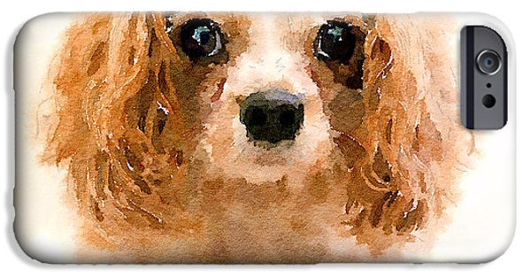 Dog Breed iPhone Cases - Archie watercolour iPhone Case by Jane Rix