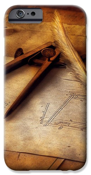 Architect - The Draftsman iPhone Case by Mike Savad