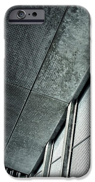Stainless Steel iPhone Cases - Architectural Abstract with Stainless Steel iPhone Case by James Aiken