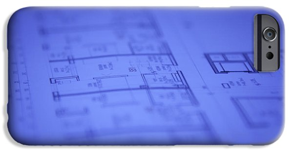 Built Structure iPhone Cases - Architectural blueprints iPhone Case by GP Images