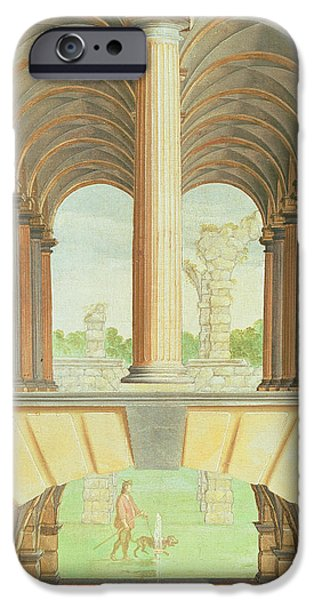 Plans iPhone Cases - Architectural Capriccio iPhone Case by Jacobus Saeys
