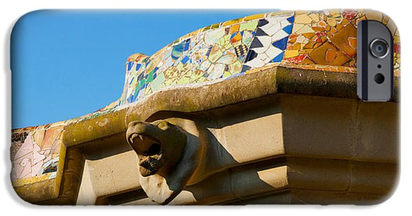 Mosaic iPhone Cases - Architectural Detail Of A Building iPhone Case by Panoramic Images