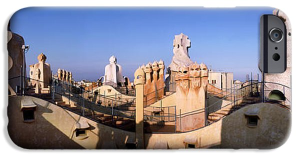 Architectural Feature iPhone Cases - Architectural Details Of Rooftop iPhone Case by Panoramic Images