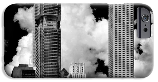 Gulf iPhone Cases - Architectural diversity Houston TX iPhone Case by Christine Till