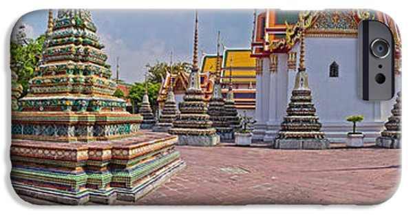 Architectural Feature iPhone Cases - Architectural Feature Of A Temple, Wat iPhone Case by Panoramic Images