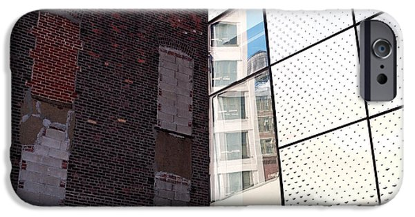 New York Photographs iPhone Cases - Architectural Juxtaposition on the High Line iPhone Case by Rona Black