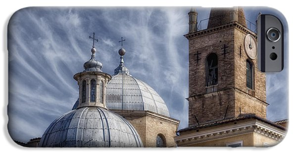 Santa iPhone Cases - Architecture del Popolo iPhone Case by Joan Carroll