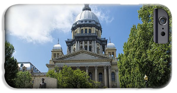 President iPhone Cases - Architecture - Illinois State Capitol  - Luther Fine Art iPhone Case by Luther  Fine Art