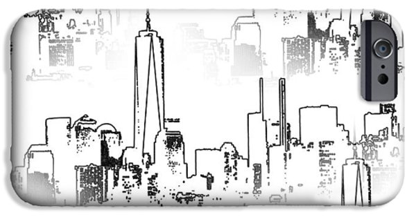 Business Digital iPhone Cases - Architecture Of New York City iPhone Case by Dan Sproul