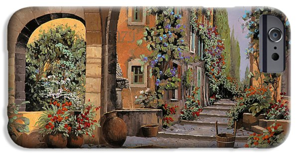Basket Paintings iPhone Cases - Arco E Arcata iPhone Case by Guido Borelli