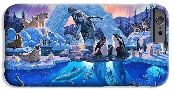Arctic iPhone Cases - Arctic Harmony iPhone Case by Chris Heitt