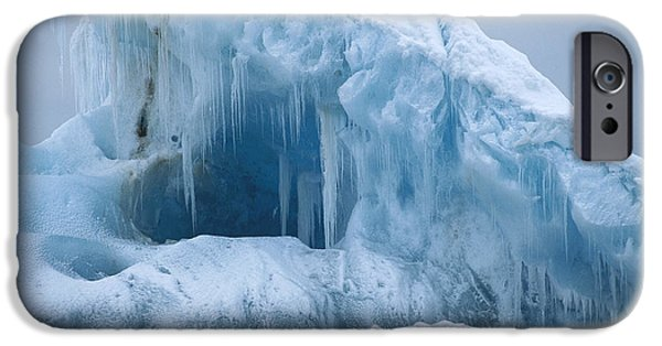 Norway iPhone Cases - Arctic Landscape Svalbard Norway iPhone Case by Flip Nicklin