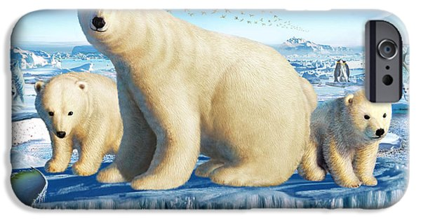 Caring Mother iPhone Cases - Arctic Splendor iPhone Case by Adrian Chesterman