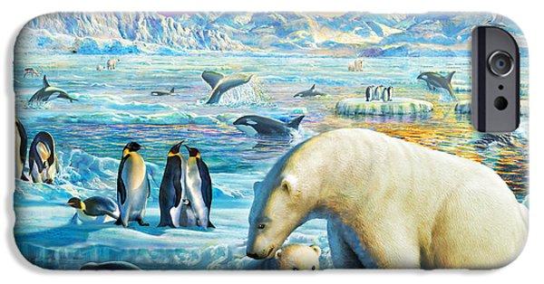 Bear Cub iPhone Cases - Arctic Sundown iPhone Case by Adrian Chesterman