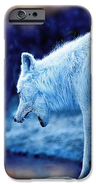 Arctic White Wolves iPhone Case by Mal Bray