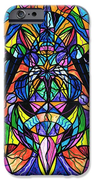 Mandalas iPhone Cases - Arcturian Awakening Grid iPhone Case by Teal Eye  Print Store