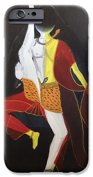 Parvati Paintings iPhone Cases - ArdhaNarishwar iPhone Case by Pratyasha Nithin