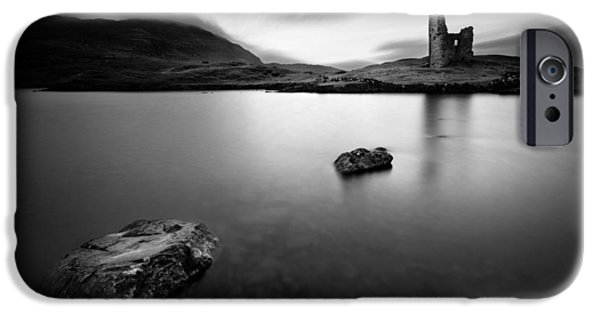 Ruin iPhone Cases - Ardvreck Castle 1 iPhone Case by Dave Bowman