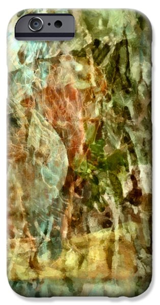 Abstract Digital Mixed Media iPhone Cases - Are Things What They Seem - Philosophical Abstract iPhone Case by Georgiana Romanovna