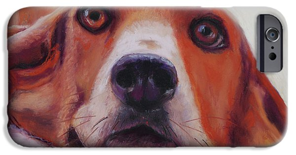 Close Pastels iPhone Cases - Are You Talking To Me iPhone Case by Billie Colson