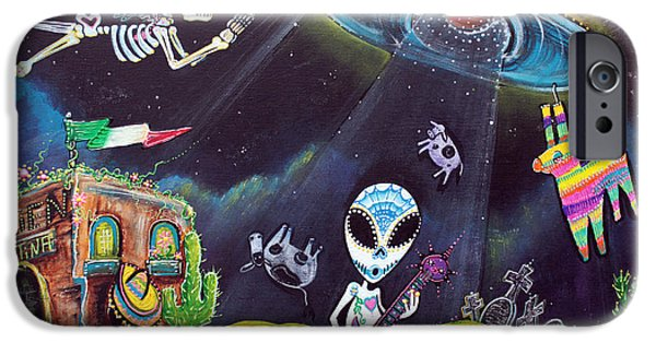 Terrestrial iPhone Cases - Area 54 iPhone Case by Laura Barbosa