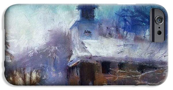 Winter Storm Pastels iPhone Cases - Area of refuge iPhone Case by Christine Vitarello