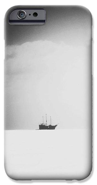 Pirate Ships Digital iPhone Cases - Arenas del Tiempo iPhone Case by Natasha Marco