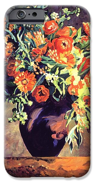 Still Life iPhone Cases - Argenteuil Arrangement iPhone Case by David Lloyd Glover