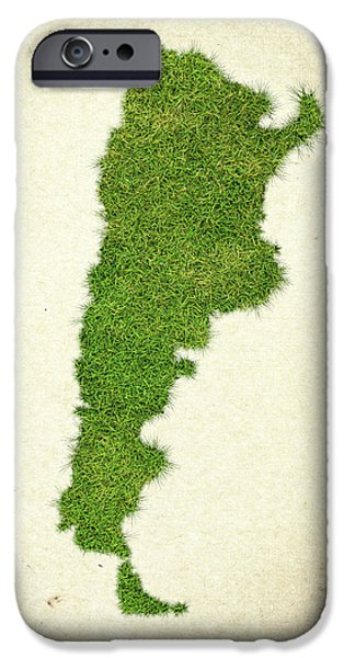 Argentina Grass Map iPhone Case by Aged Pixel