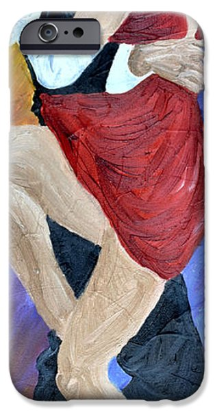 Michael Paintings iPhone Cases - Argentino Tango iPhone Case by Michael Lee