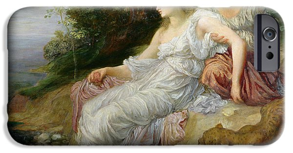 Pres iPhone Cases - Ariadne In Naxos, 1875 Oil On Canvas iPhone Case by George Frederick Watts