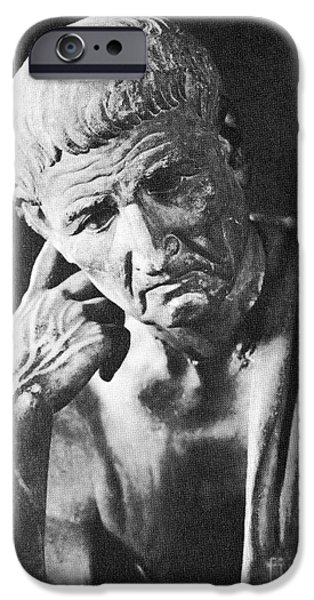 Ponder iPhone Cases - Aristotle iPhone Case by Spl