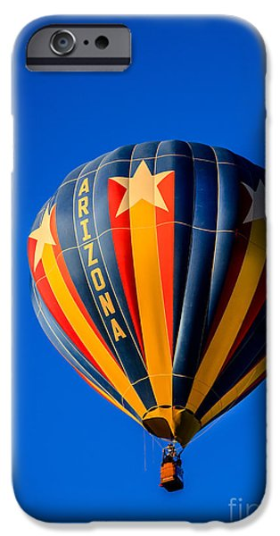 Colorado River Crossing iPhone Cases - Arizona Balloon iPhone Case by Robert Bales