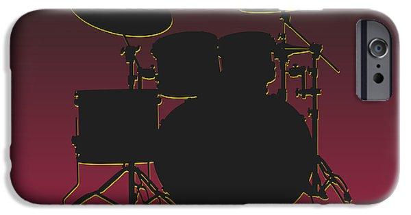 Drum Sets iPhone Cases - Arizona Cardinals Drum Set iPhone Case by Joe Hamilton