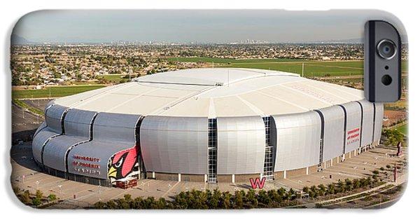 Patriots iPhone Cases - Arizona Cardinals Stadium iPhone Case by John Ferrante