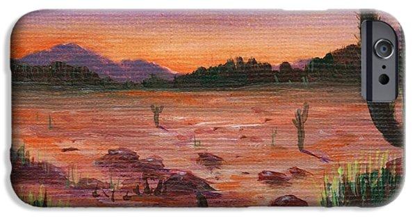 Aceo iPhone Cases - Arizona Desert iPhone Case by Anastasiya Malakhova