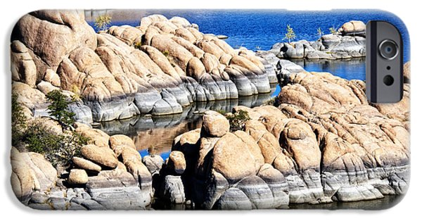 Watson Lake iPhone Cases - Arizona Granite 1 iPhone Case by Lee Craig