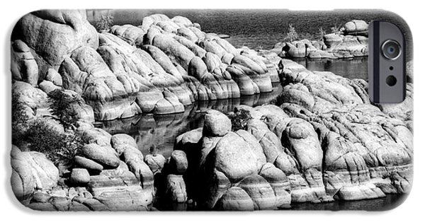 Prescott iPhone Cases - Arizona Granite 2 iPhone Case by Lee Craig