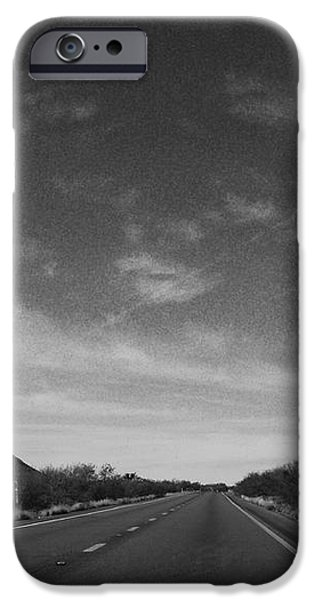 Asphalt Digital iPhone Cases - Arizona Highway 70 West iPhone Case by Methune Hively