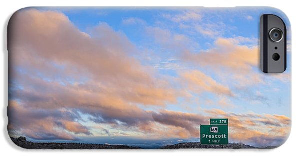 Prescott Arizona iPhone Cases - Arizona Highway Sunset iPhone Case by Anthony Citro