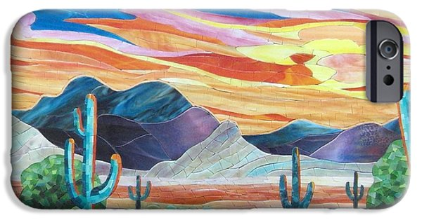 Print Glass iPhone Cases - Arizona landscape iPhone Case by Suzanne Tremblay