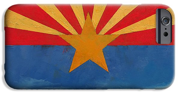 4th July Paintings iPhone Cases - Arizona iPhone Case by Michael Creese