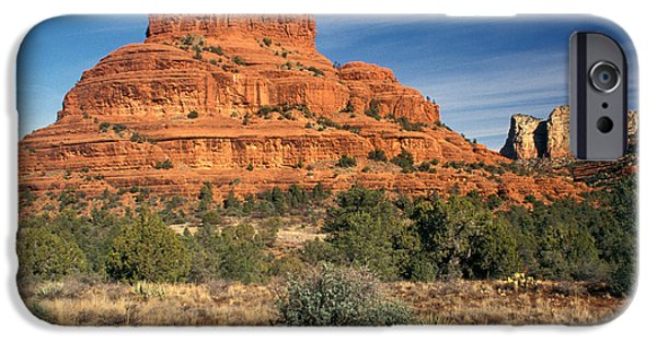 Sedona iPhone Cases - Arizona Sedona Bell Rock  iPhone Case by Anonymous