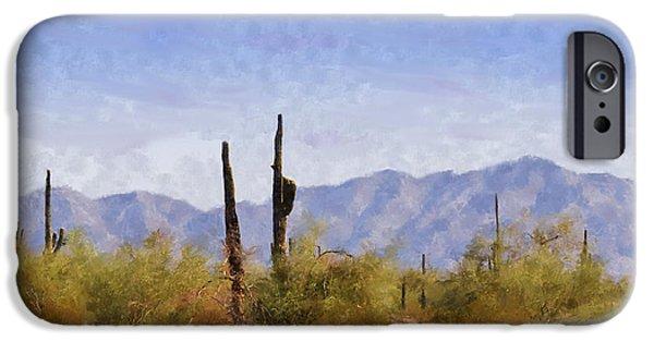 Soil Digital Art iPhone Cases - Arizona Sonoran Desert iPhone Case by Betty LaRue