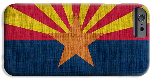 Declaration Of Independence Digital iPhone Cases - Arizona state flag iPhone Case by Pixel Chimp